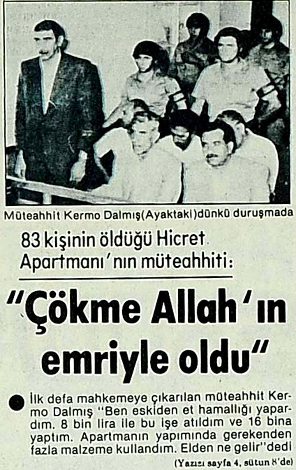 ''Çökme Allah'ın emriyle oldu''