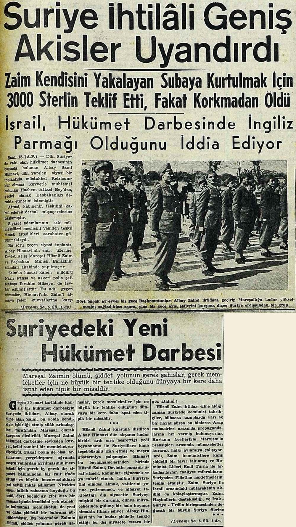 suriye'de 1949 darbesi ile ilgili görsel sonucu
