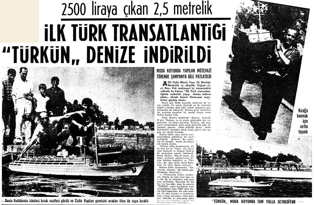 İlk Türk Transatlantiği ''Türkün'' denize indirildi