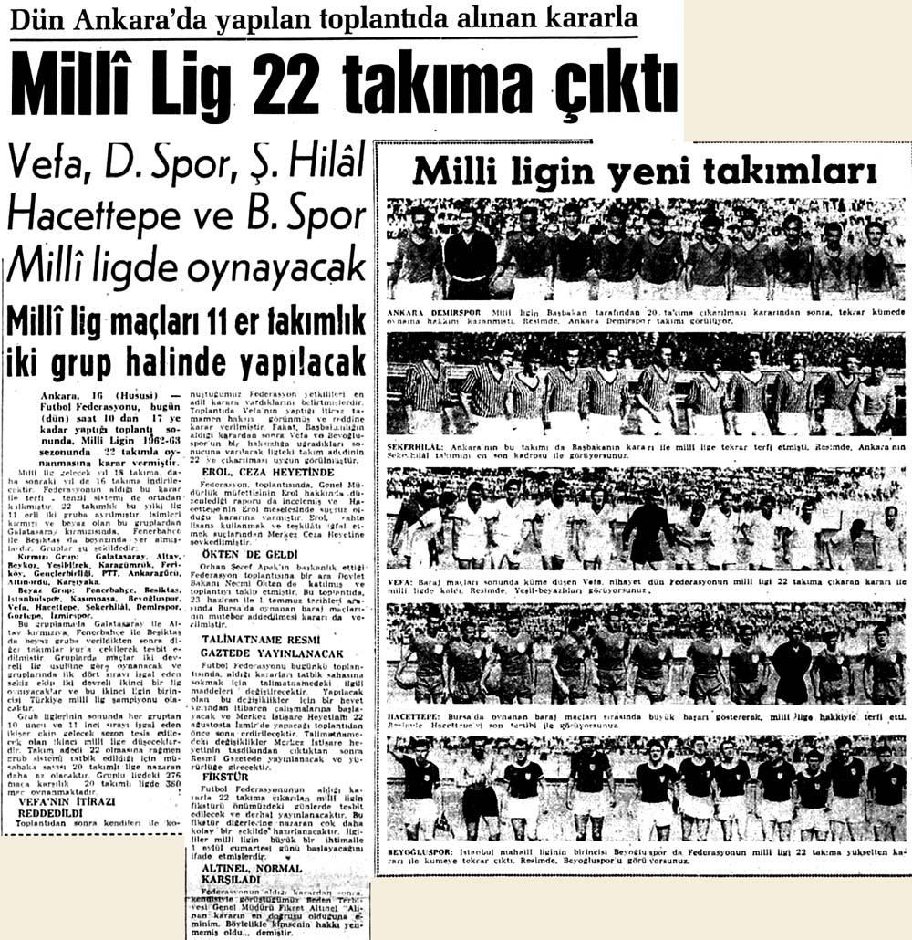 Milli Lig 22 takıma çıktı