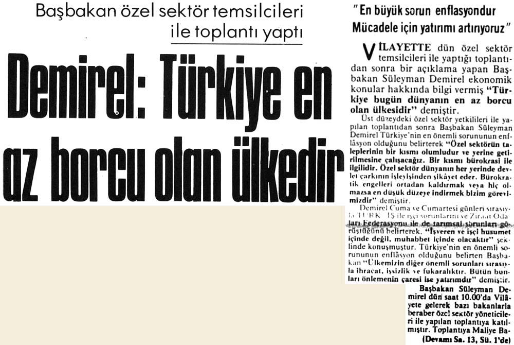 Türkiye en az borcu olan ülkedir