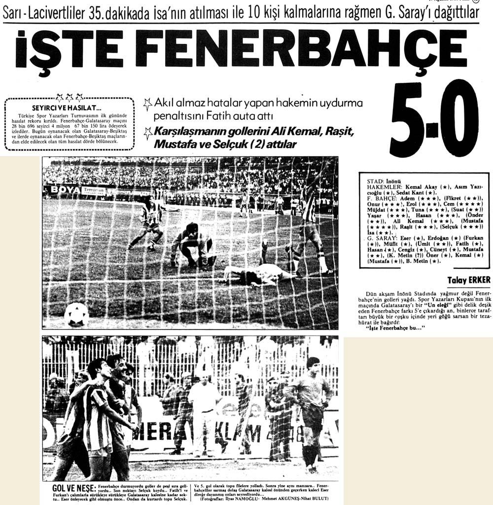 İşte Fenerbahçe 5-0