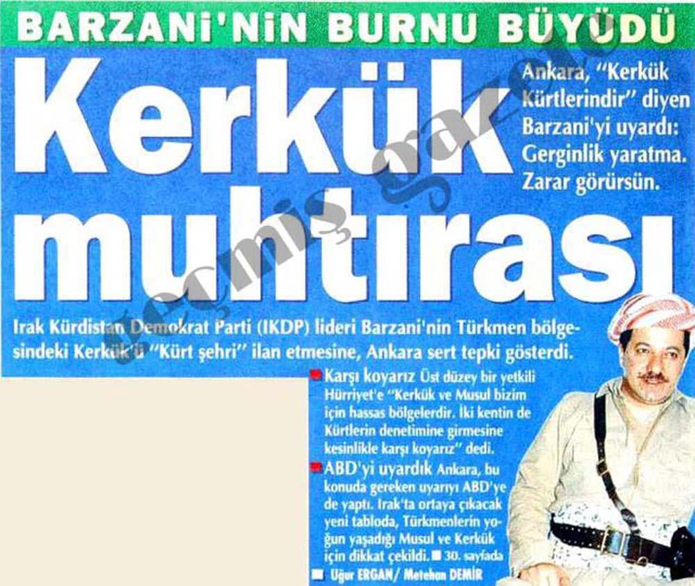 Barzani'nin burnu büyüdü