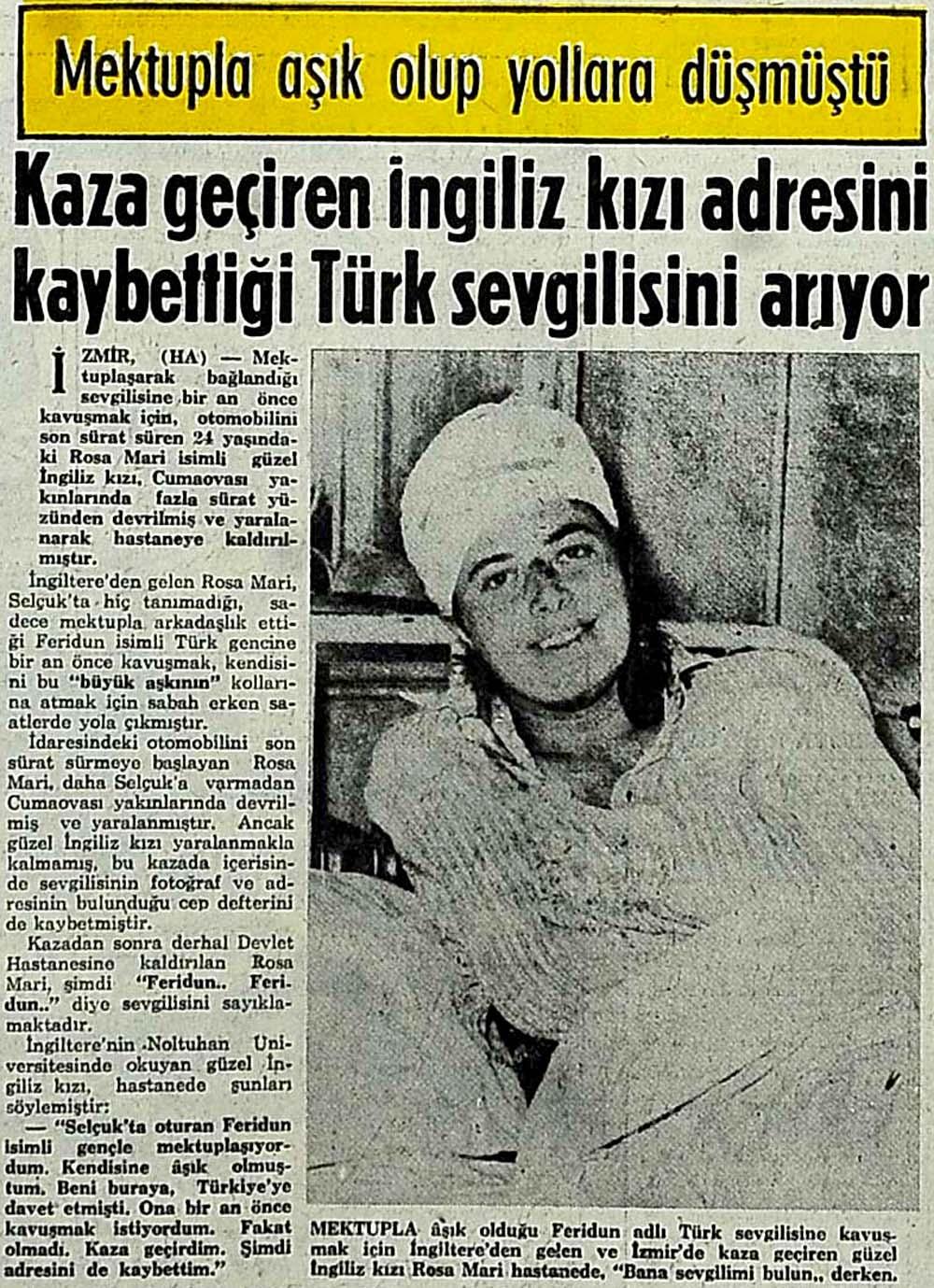 Kaza geçiren İngiliz kızı adresini kaybettiği Türk sevgilisini arıyor