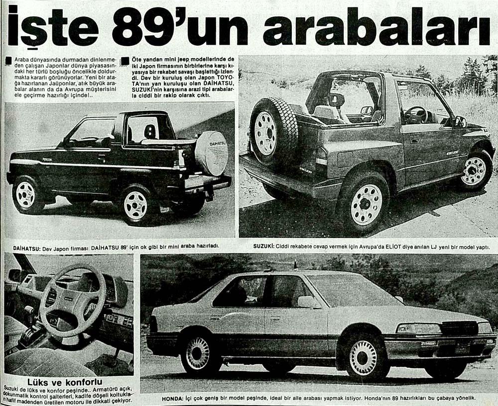 İşte 89'un arabaları