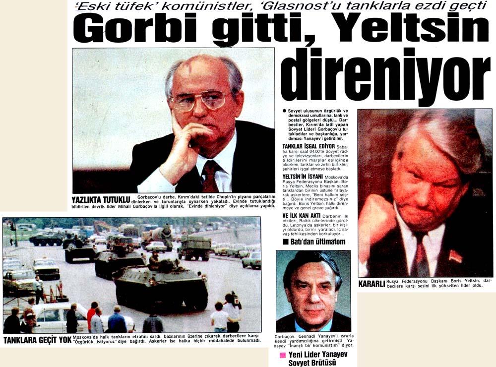 Gorbi gitti, Yeltsin direniyor