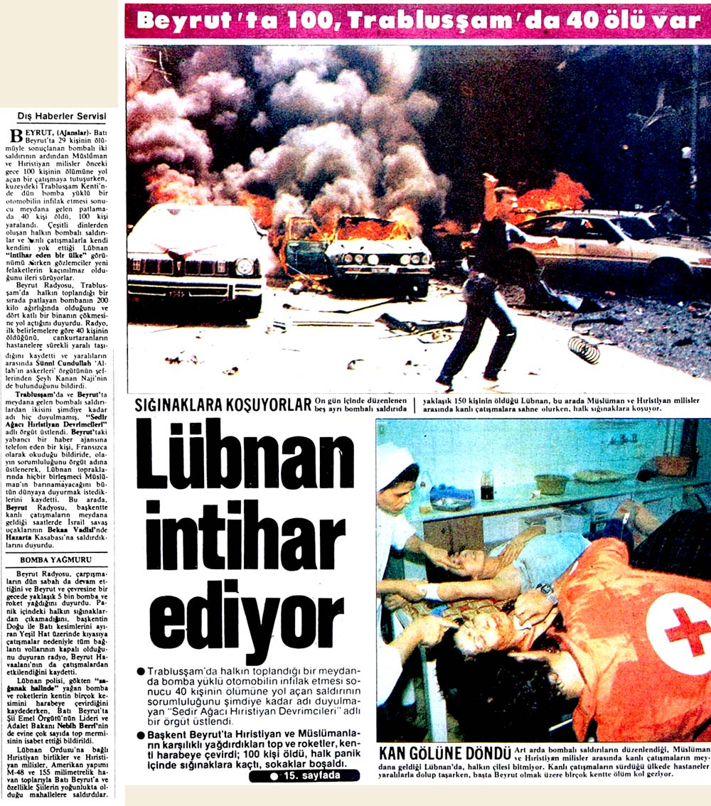 Lübnan intihar ediyor