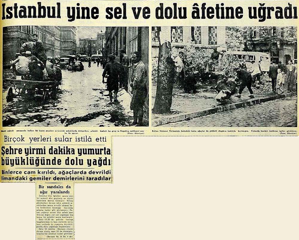 İstanbul yine sel ve dolu afetine uğradı