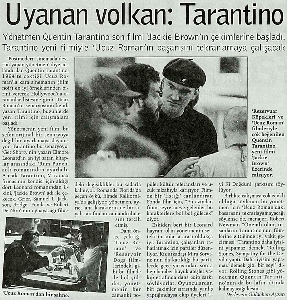 Uyanan volkan:Tarantino