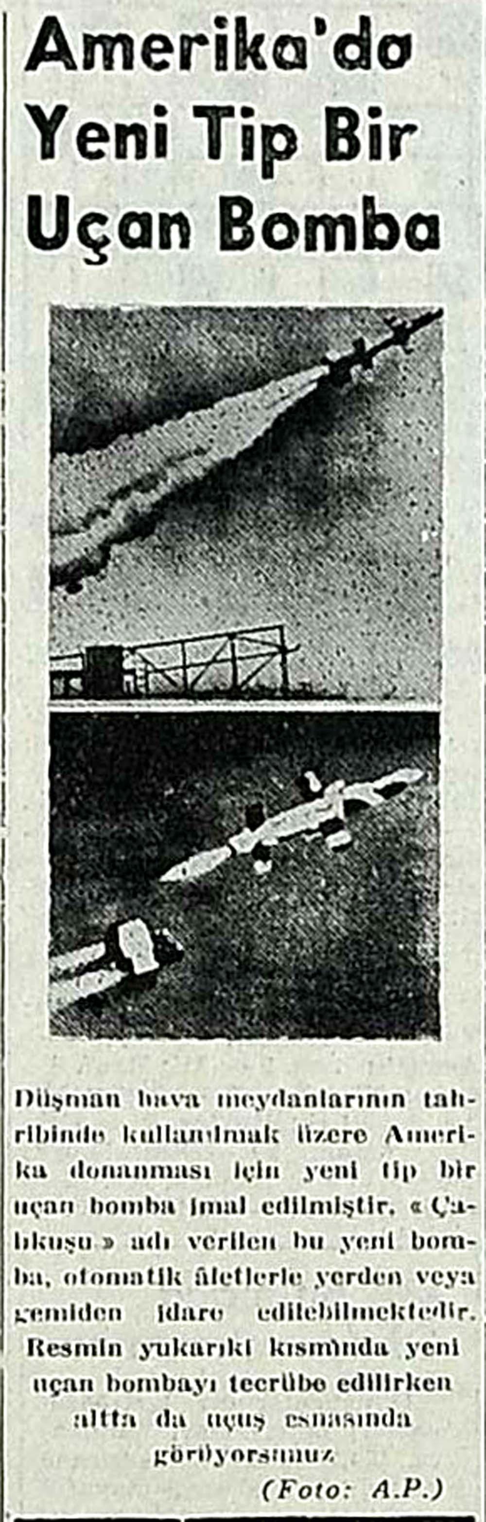 Amerika'da Yeni Tip Bir Uçan Bomba