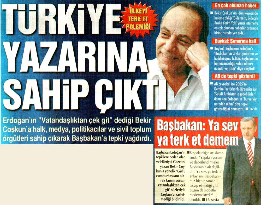 Türkiye yazarına sahip çıktı