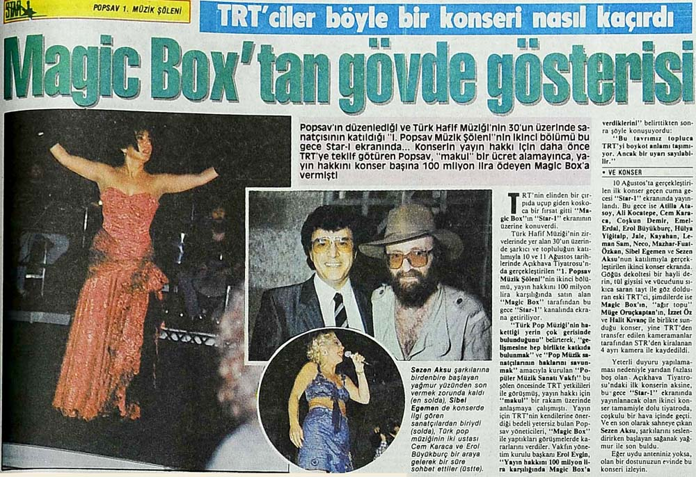 Magic Box'tan gövde gösterisi