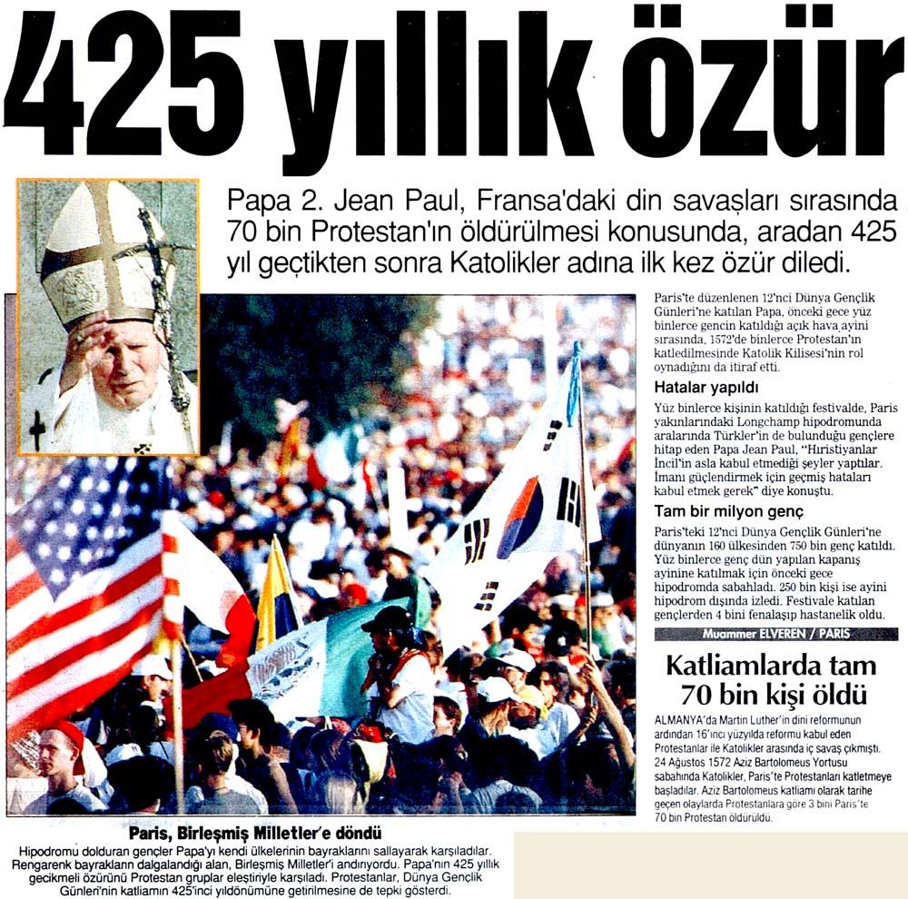 425 yıllık özür