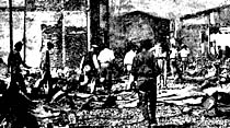 Bursa çarşıları bir enkaz yığını halinde
