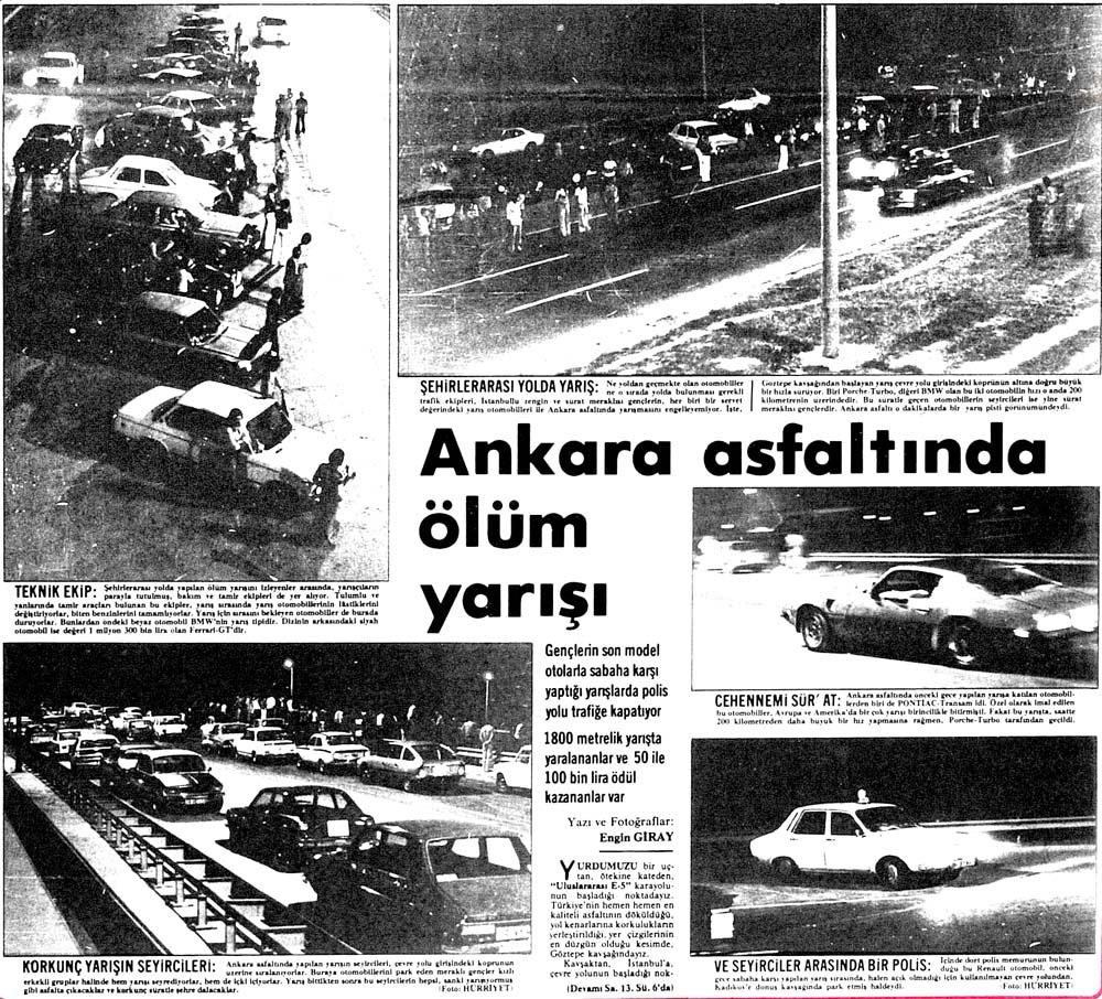Ankara asfaltında ölüm yarışı