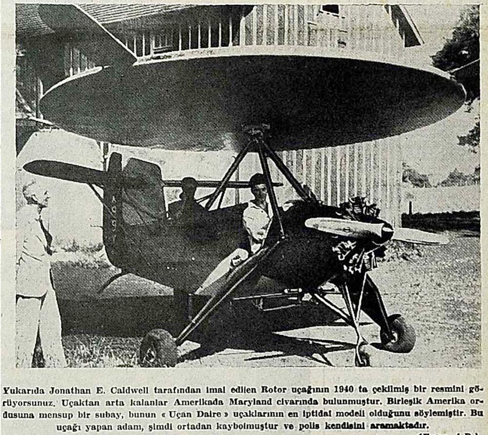 ''Uçan Daire'' uçakları