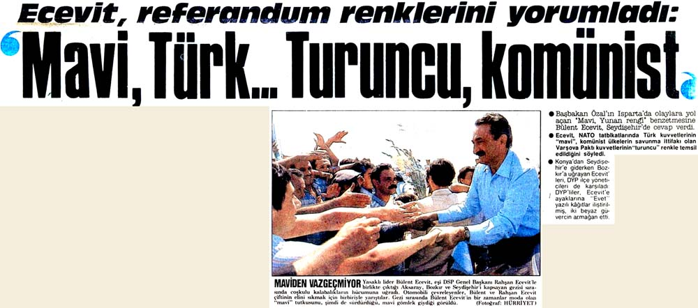 'Mavi, Türk...Turuncu, komünist'