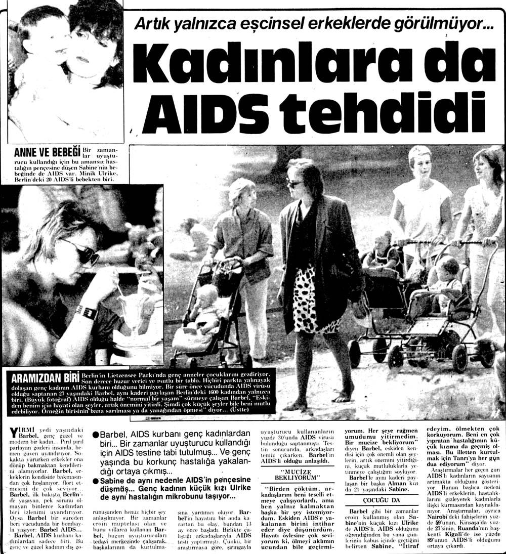 Kadınlara da AIDS tehdidi