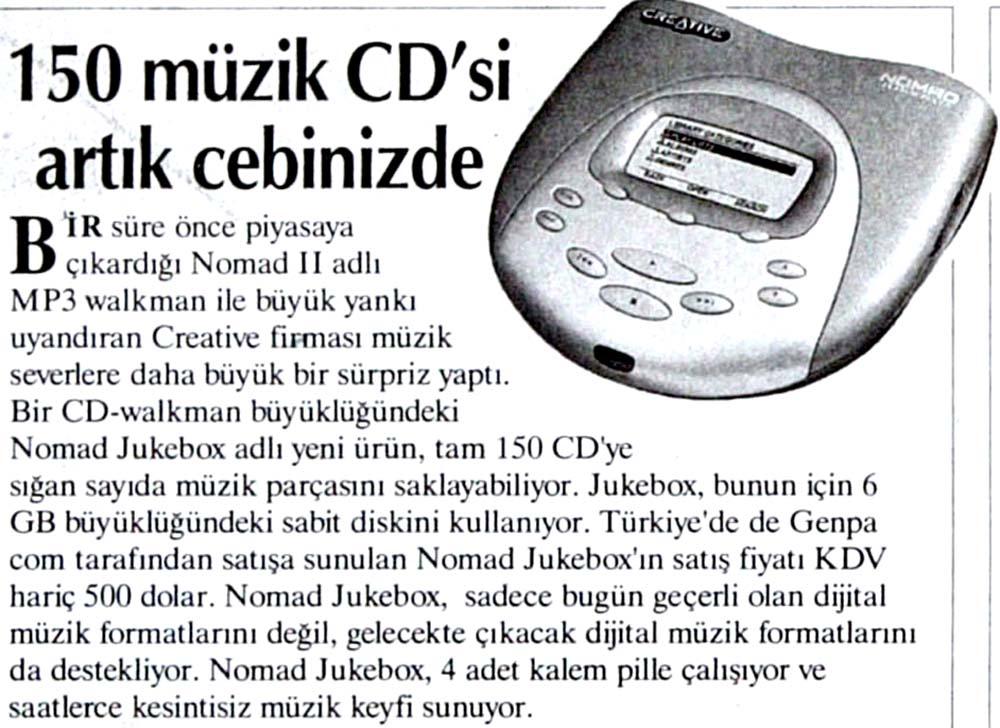 150 müzik CD'si artık cebinizde