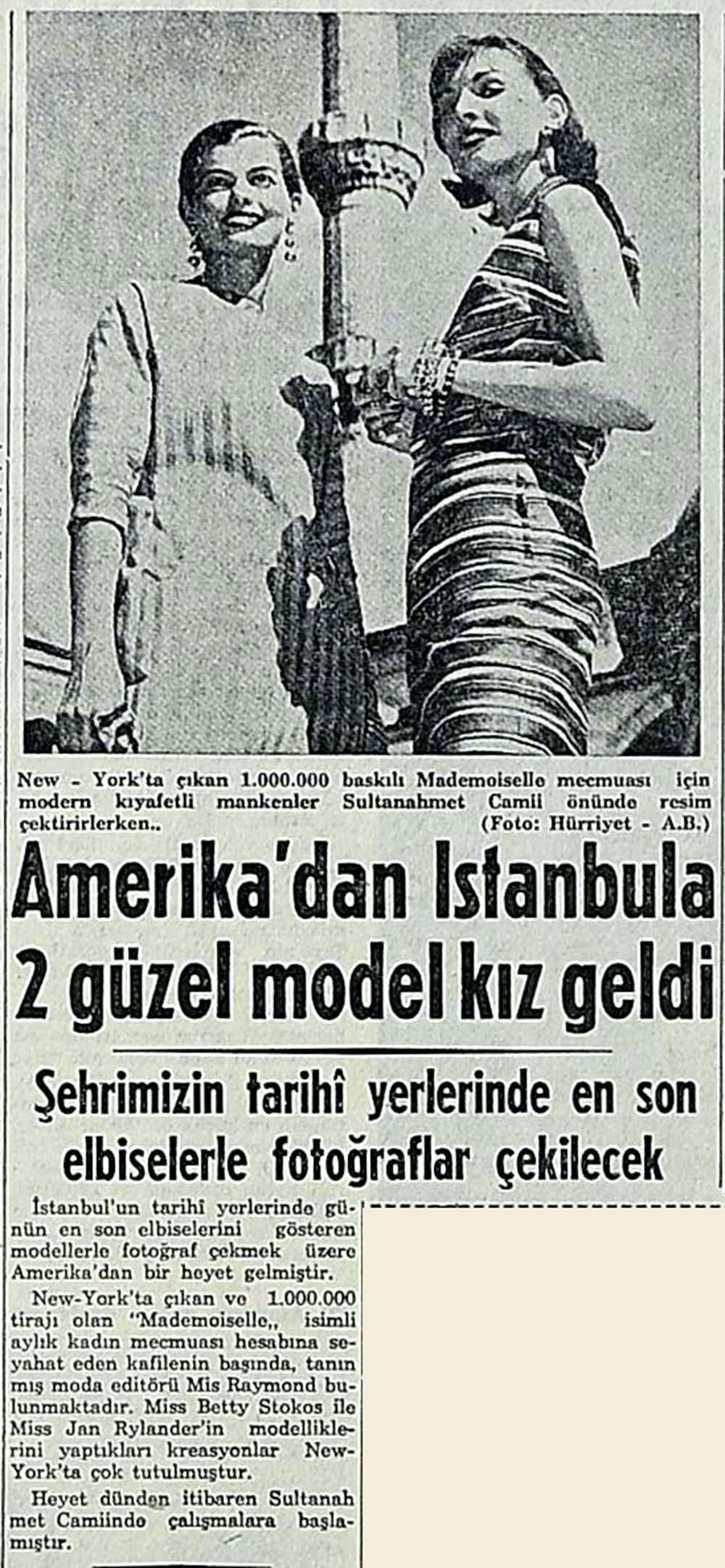 Amerika'dan İstanbula 2 güzel model kız geldi