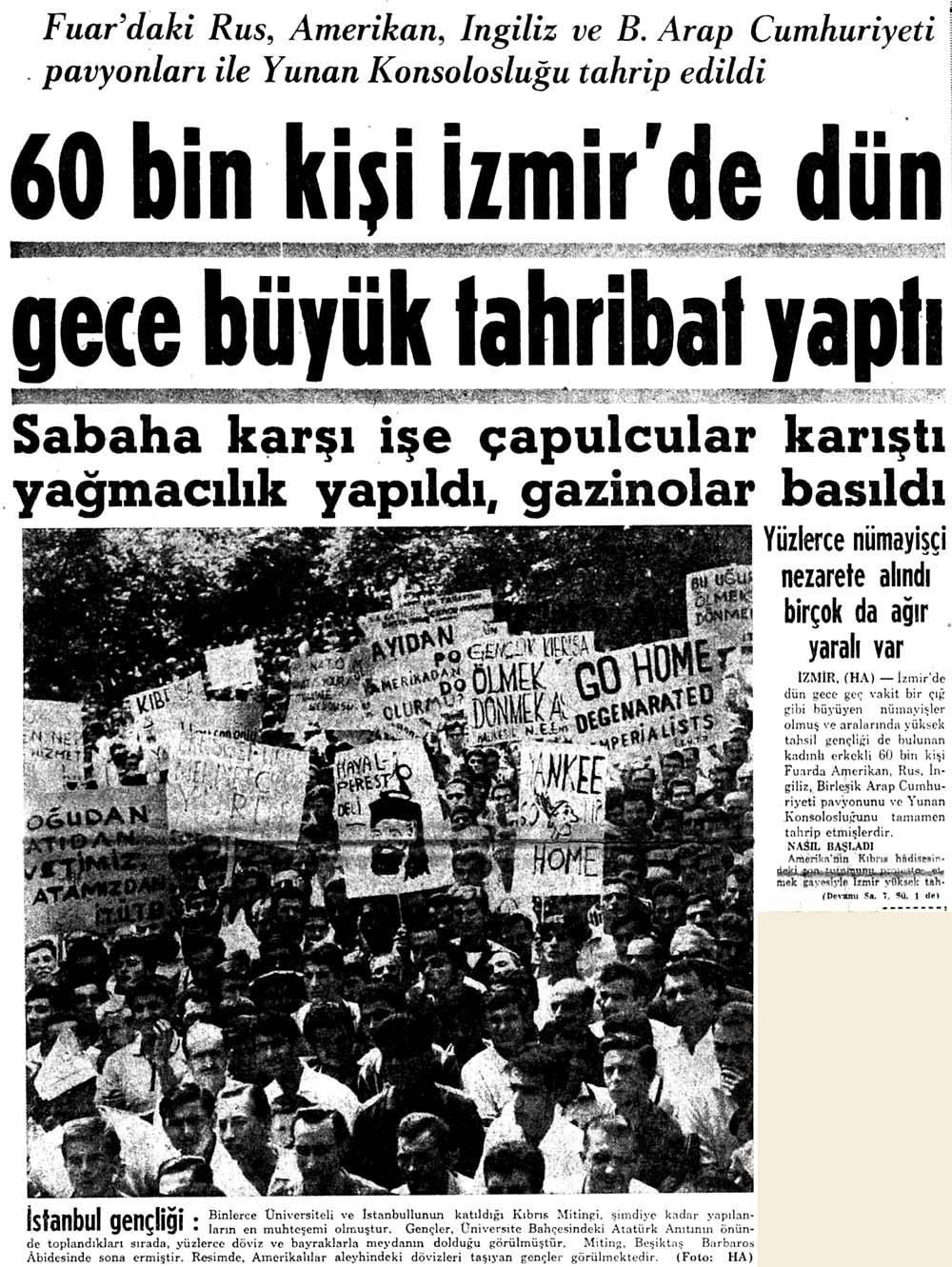 60 bin kişi İzmir'de dün gece büyük tahribat yaptı