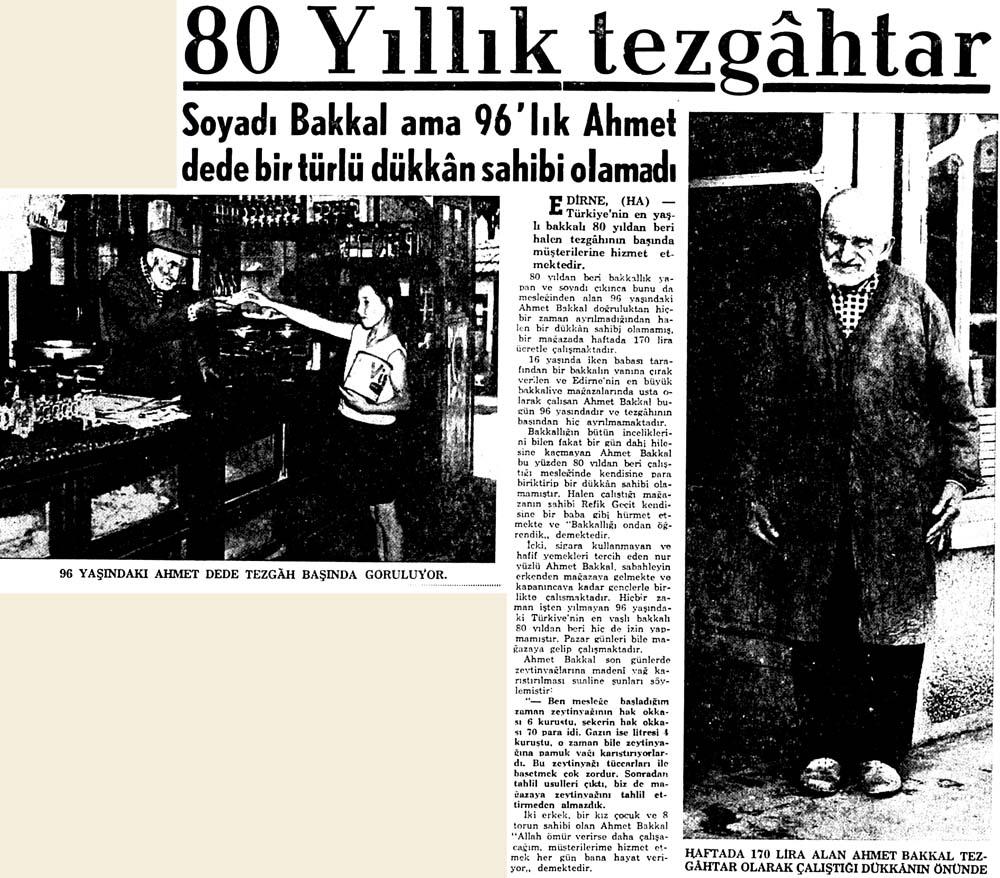 80 yıllık tezgahtar