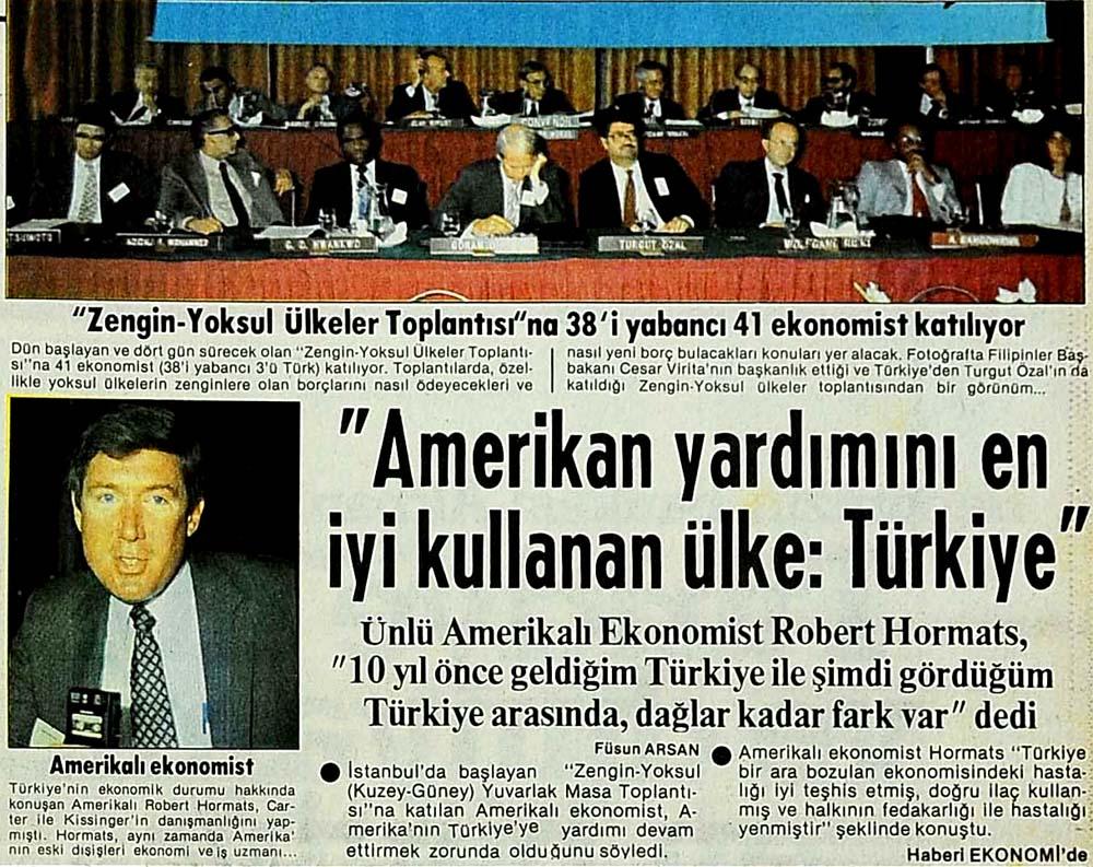 ''Amerikan yardımını en iyi kullanan ülke: Türkiye''