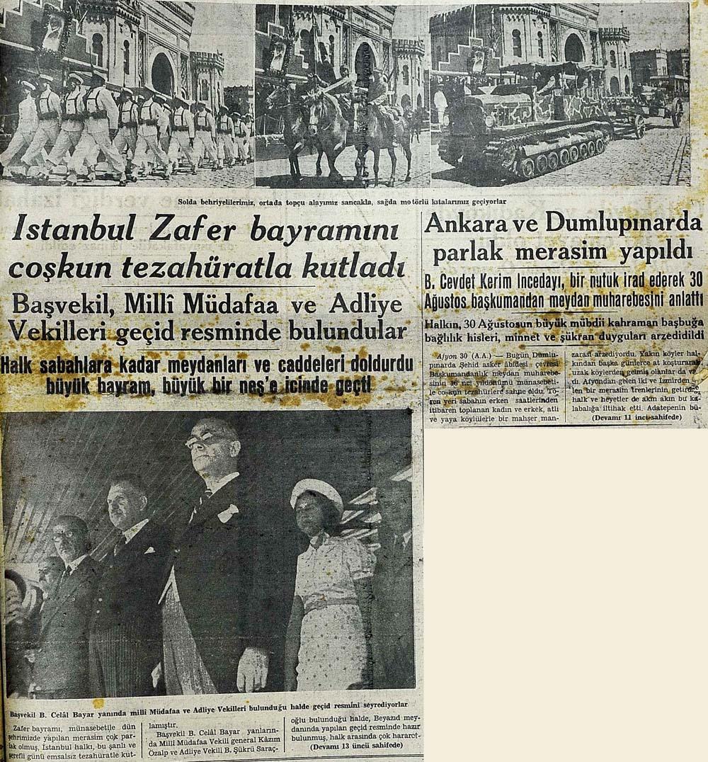 İstanbul Zafer bayramını coşkun tezahüratla kutladı