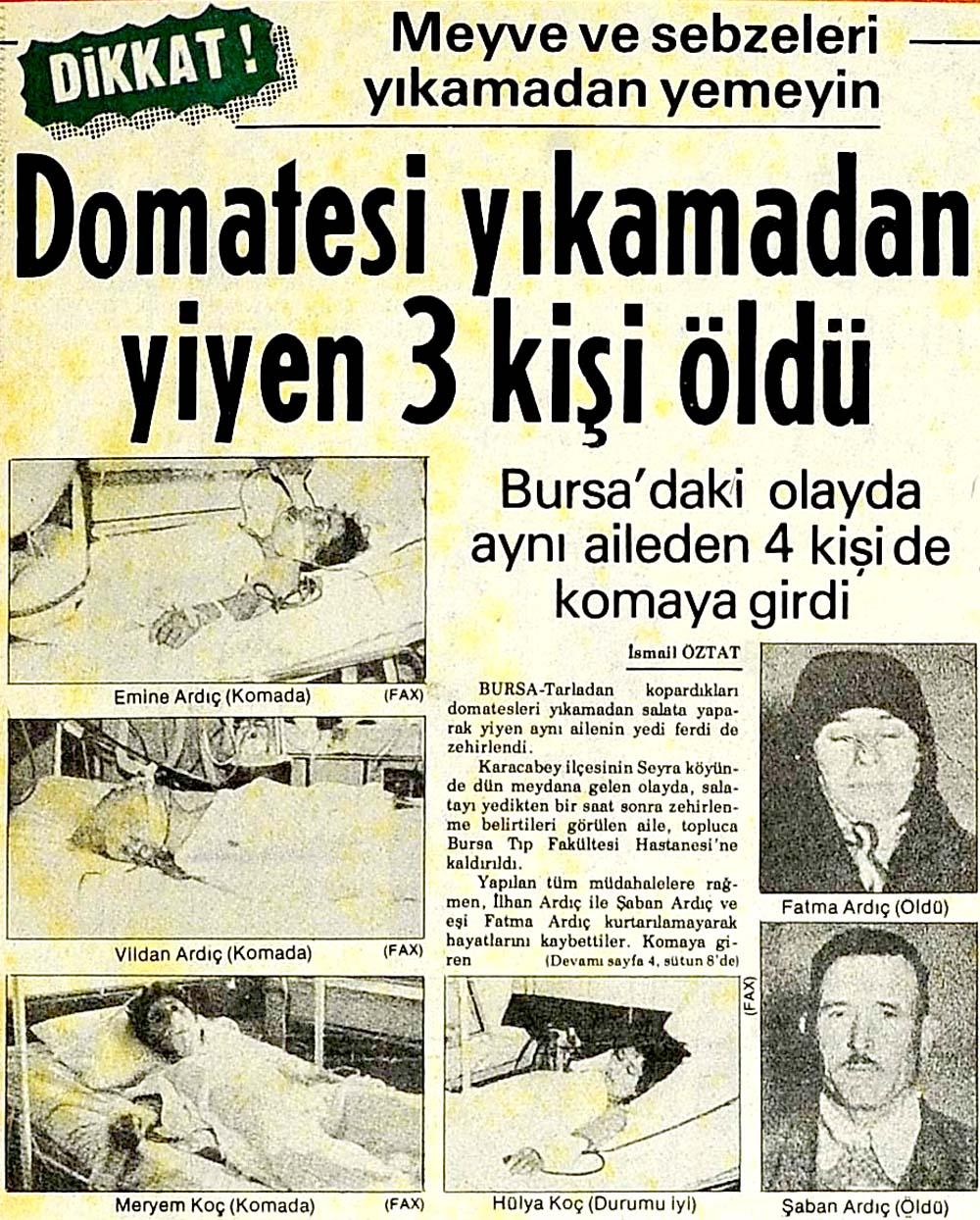 Dikkat! Domatesi yıkamadan yiyen 3 kişi öldü