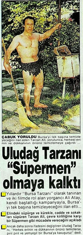 Uludağ Tarzanı ''Süpermen'' olmaya kalktı