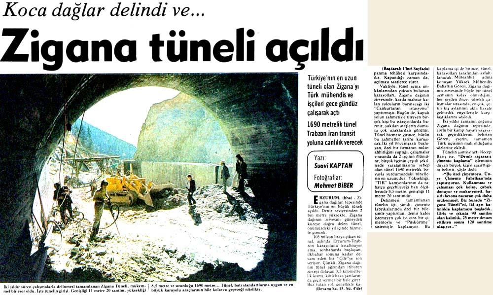 Zigana tüneli açıldı