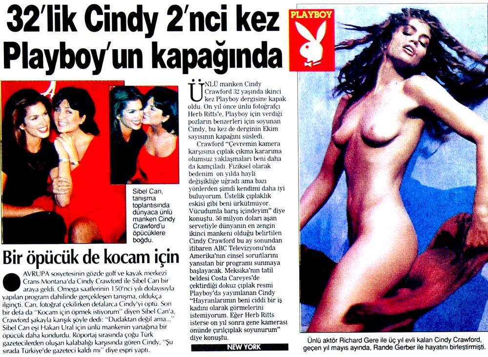 32'lik Cindy 2'nci kez Playboy'un kapağında