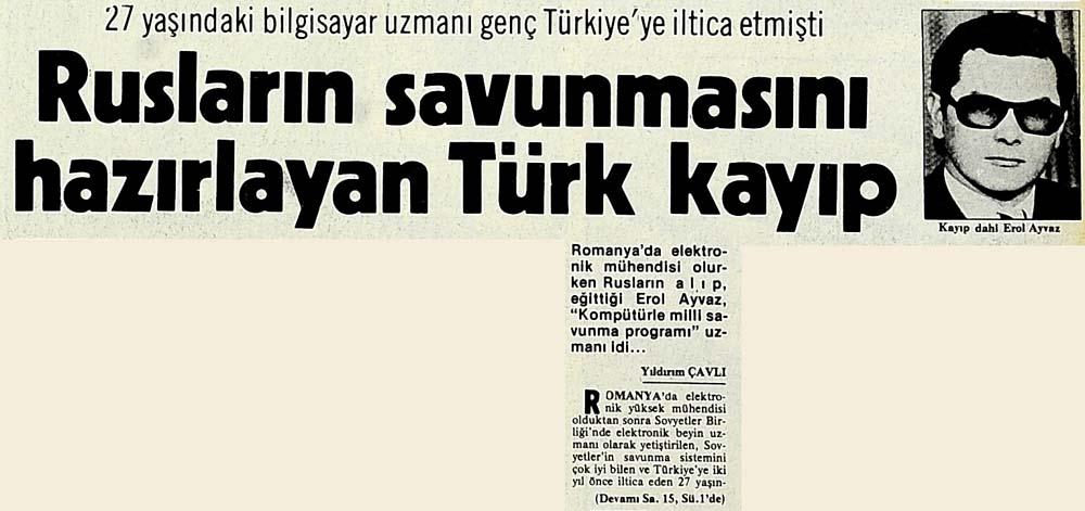 Rusların savunmasını hazırlayan Türk kayıp