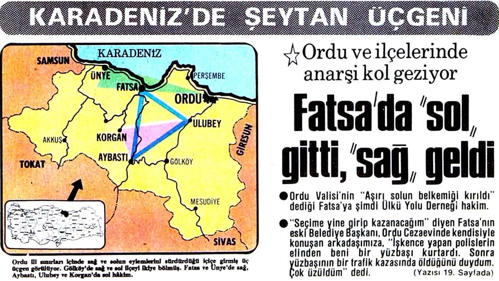Karadeniz'de şeytan üçgeni