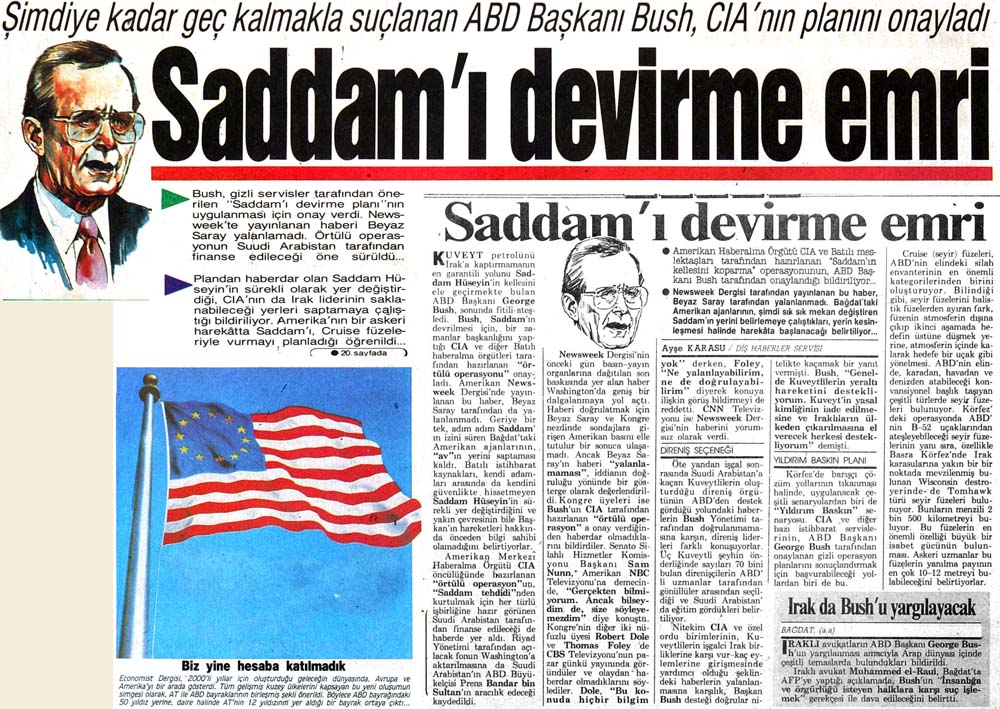 Saddam'ı devirme emri