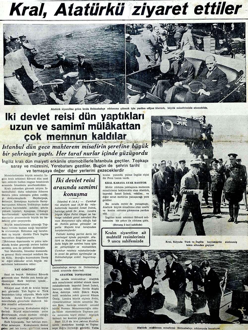 Kral, Atatürkü ziyaret ettiler