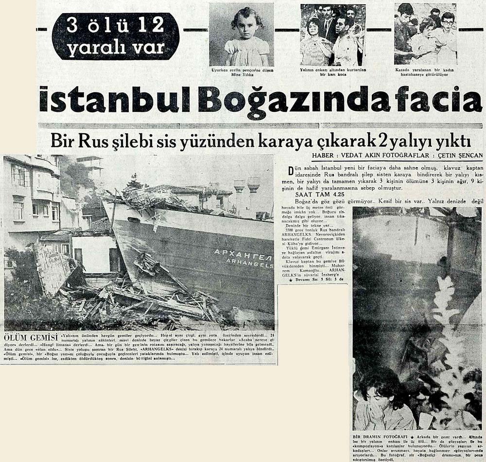 İstanbul Boğazında facia