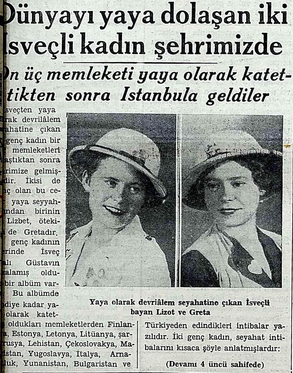 Dünyayı yaya dolaşan iki İsveçli kadın şehrimizde