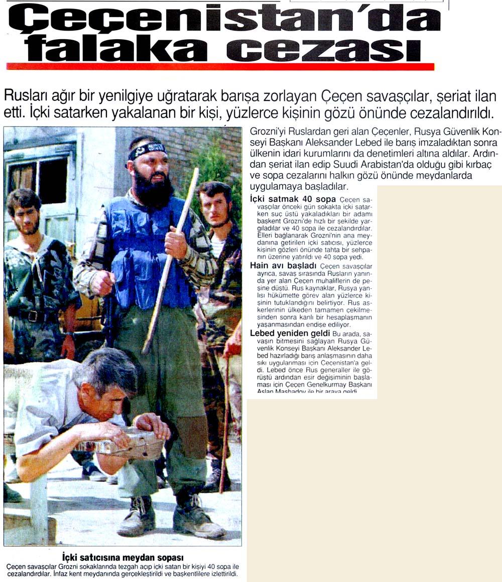 Çeçenistan'da falaka cezası