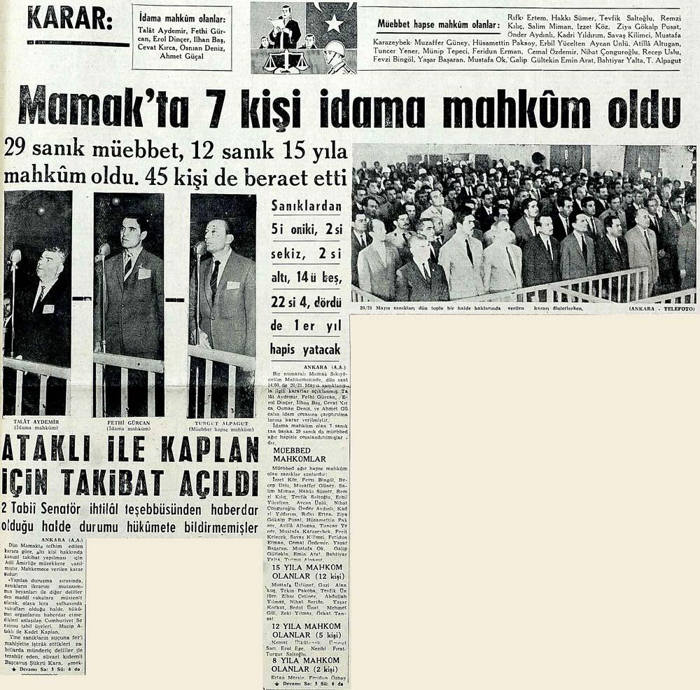 Mamak'ta 7 kişi idama mahkum oldu