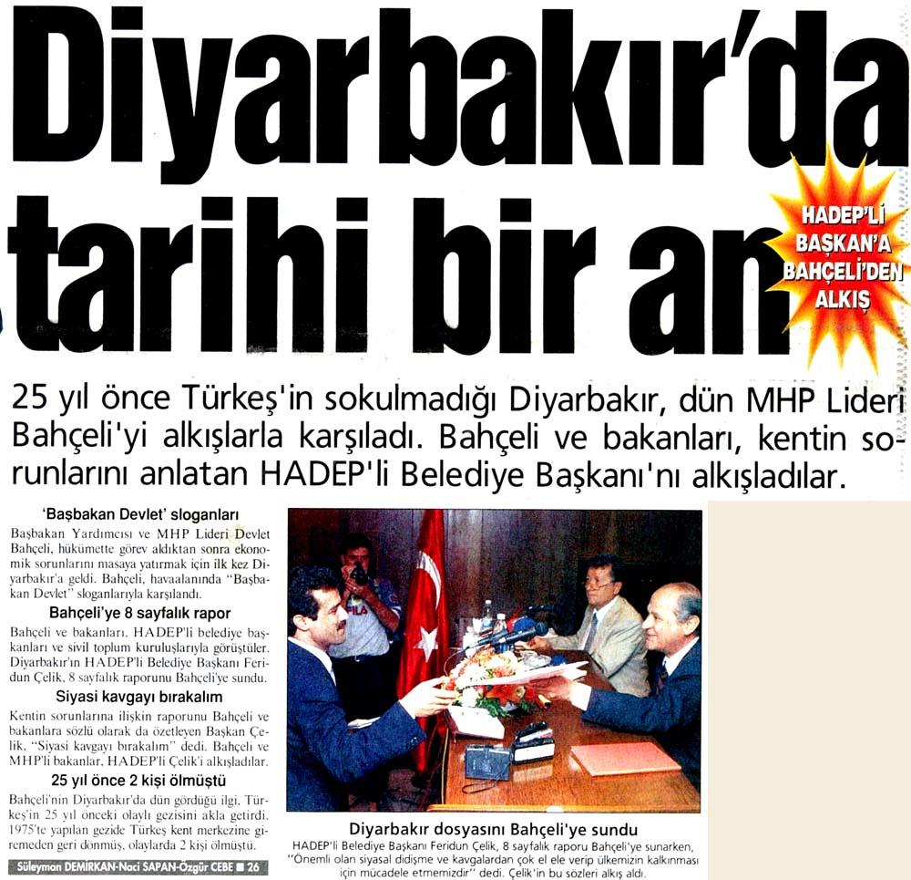 Diyarbakır'da tarihi bir an