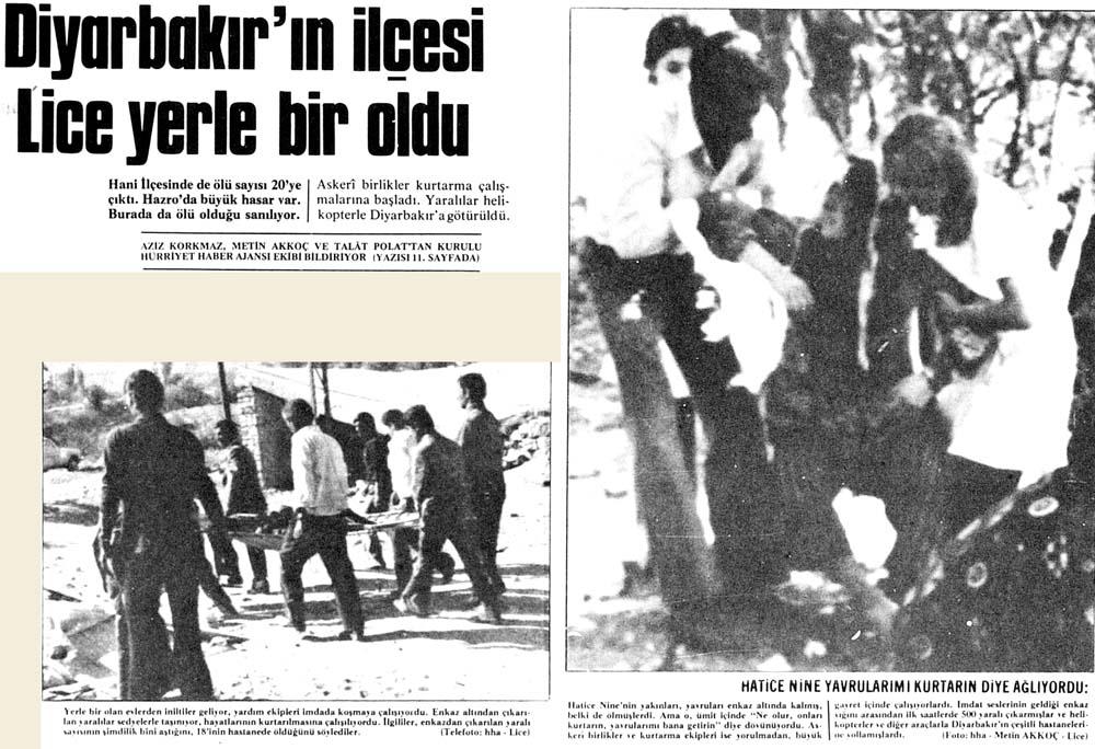 Diyarbakır'ın ilçesi Lice yerle bir oldu