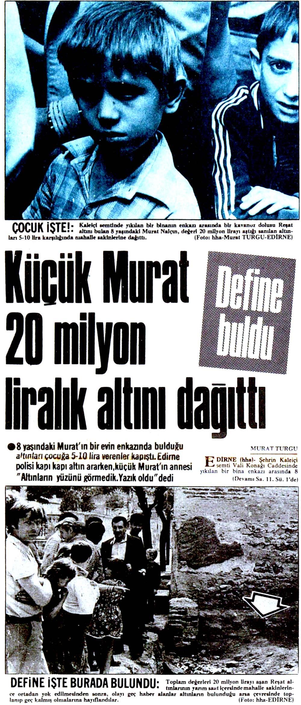 Küçük Murat 20 milyon liralık altını dağıttı