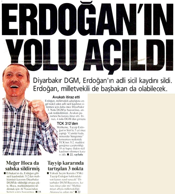 Erdoğan'ın yolu açıldı