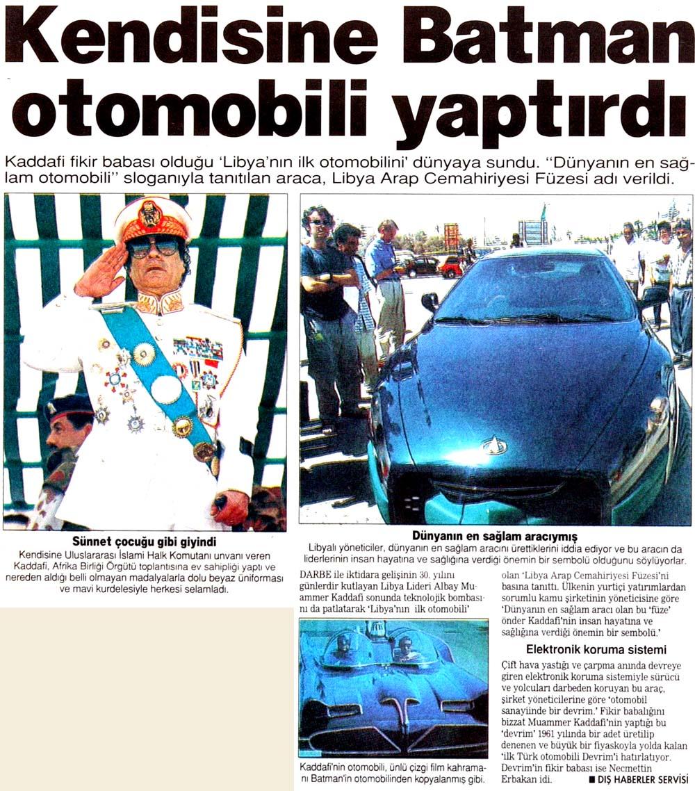 Kendisine Batman otomobili yaptırdı