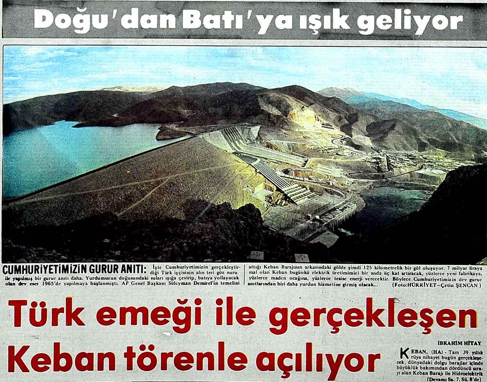 Türk emeği ile gerçekleşen Keban törenle açılıyor