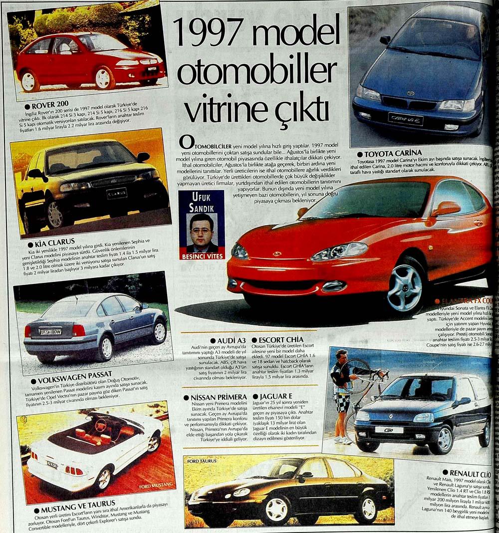 1997 model otomobiller vitrine çıktı