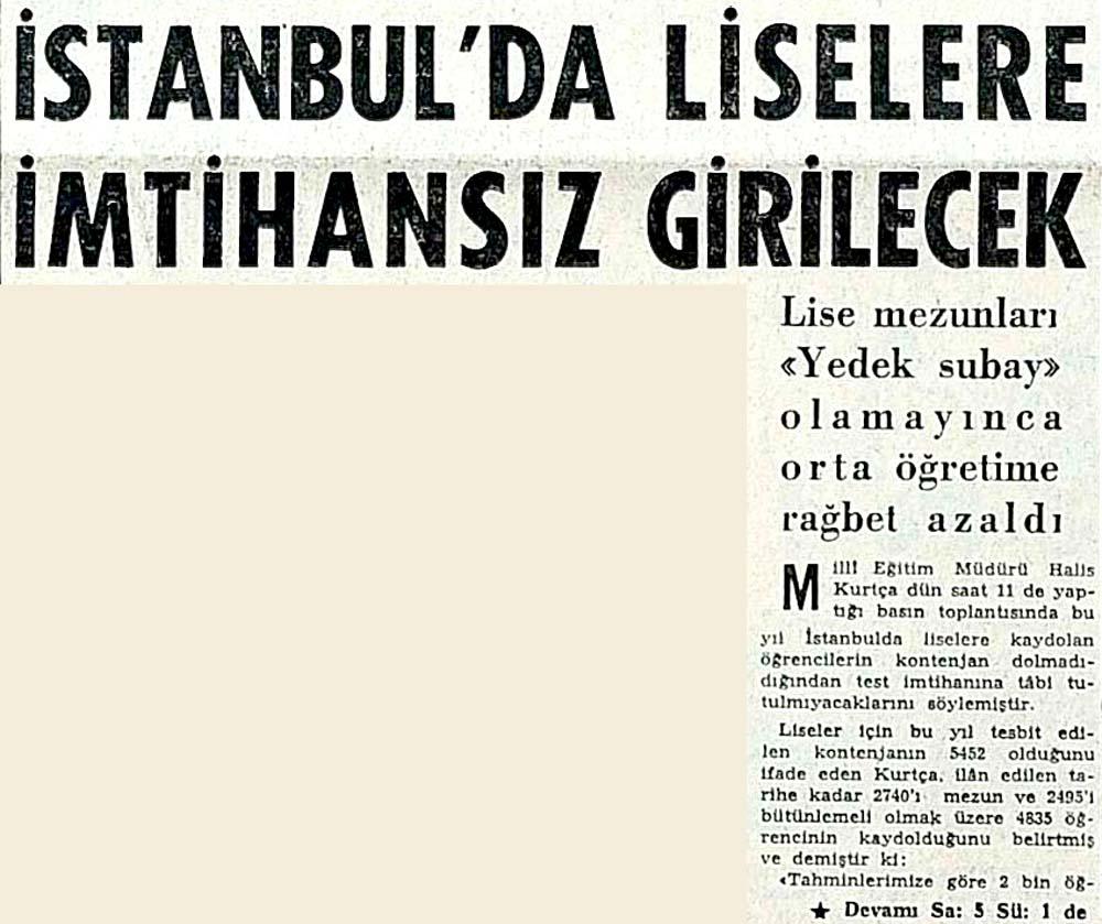 İstanbul'da liselere imtihansız girilecek