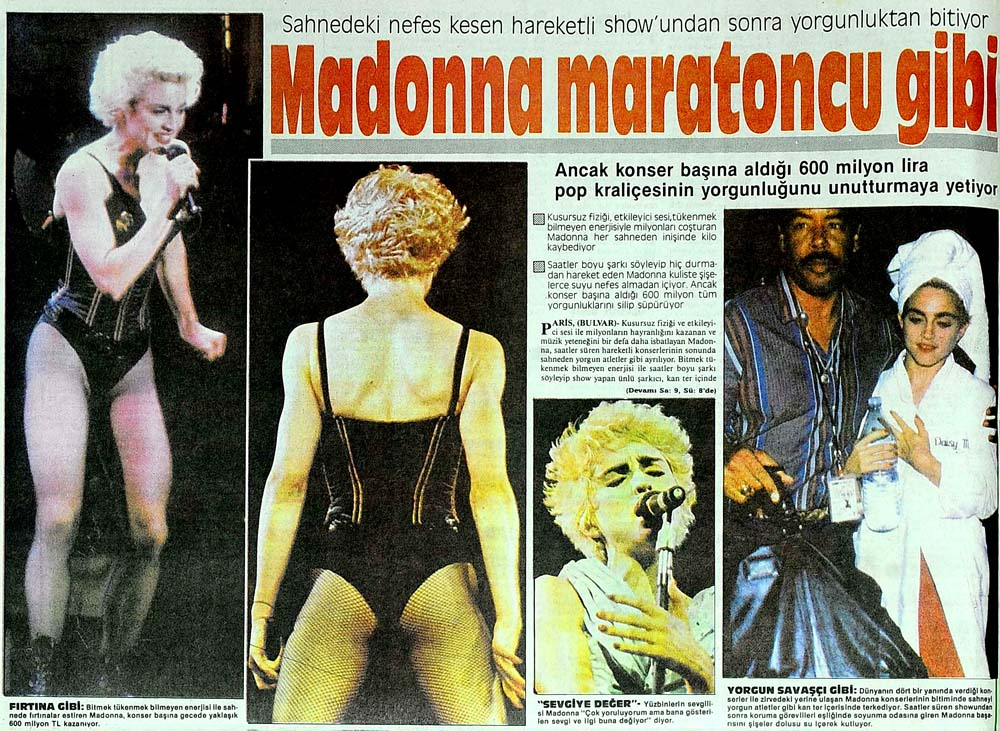 Madonna maratoncu gibi