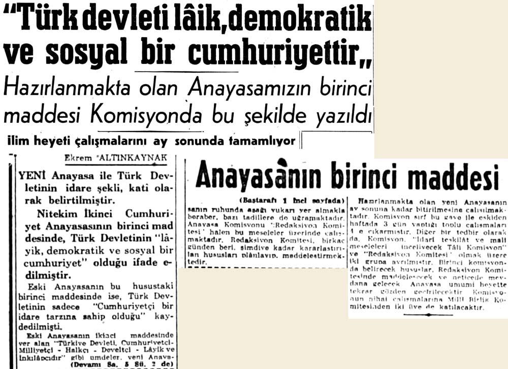 ''Türk devleti laik, demokratik ve sosyal bir cumhuriyettir''